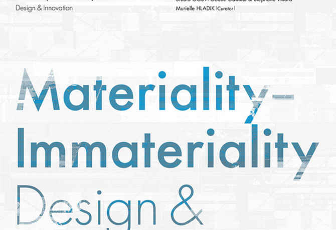 poster for Materiality-Immateriality  Design & Innovation
