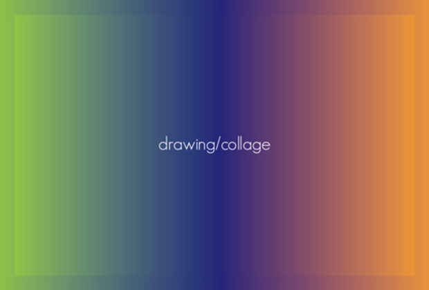 poster for 「drawing/collage」展